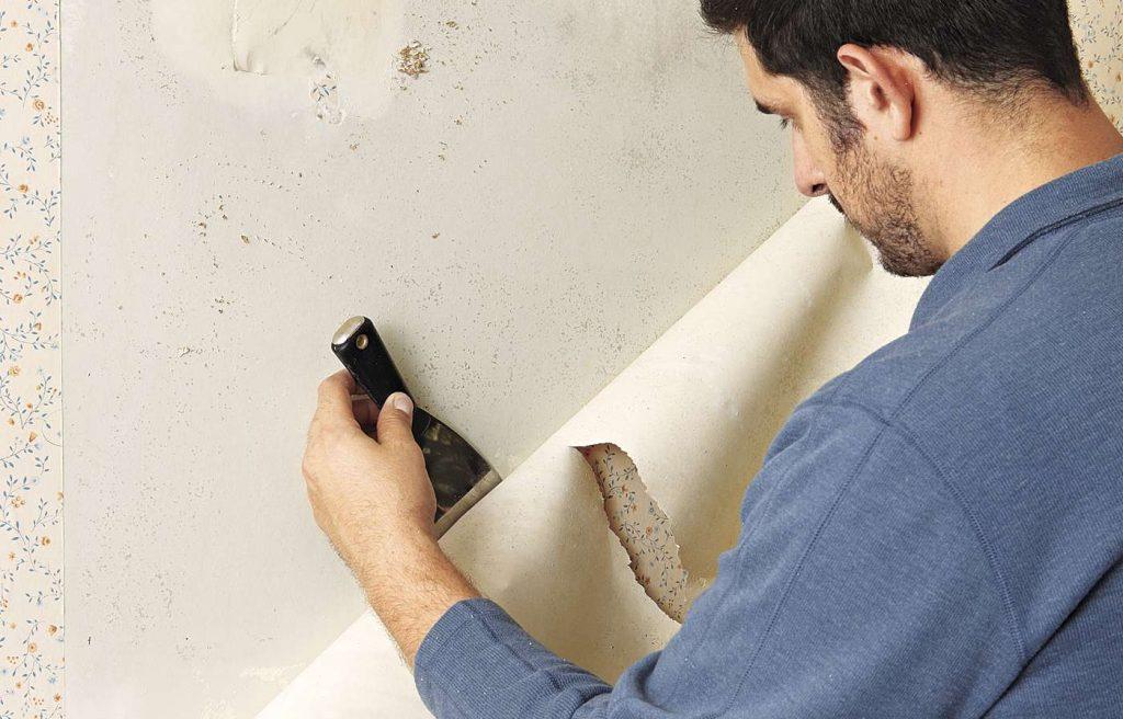 bóc giấy dán tường cũ dễ dàng nhất