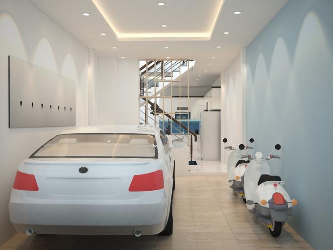 thiết kế gara ô tô trong nhà hợp phong thủy 01
